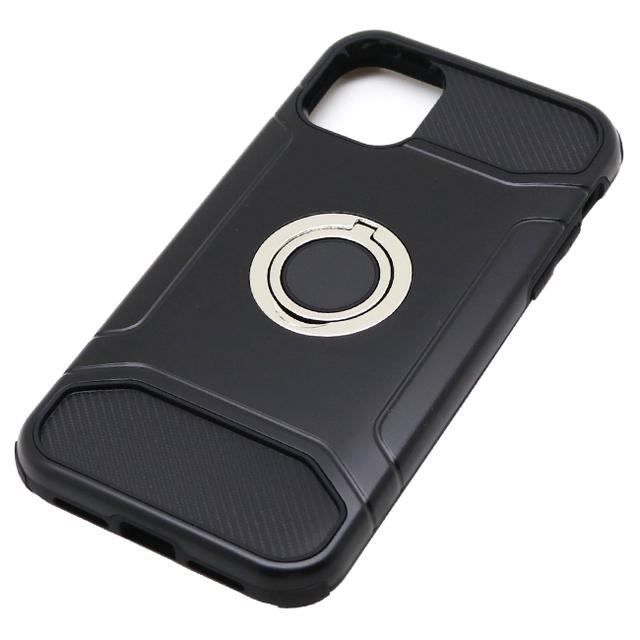 iPhone 11 用 6.1インチ ジャケット リング付き 耐衝撃